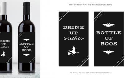 Fun Halloween Wine Labels