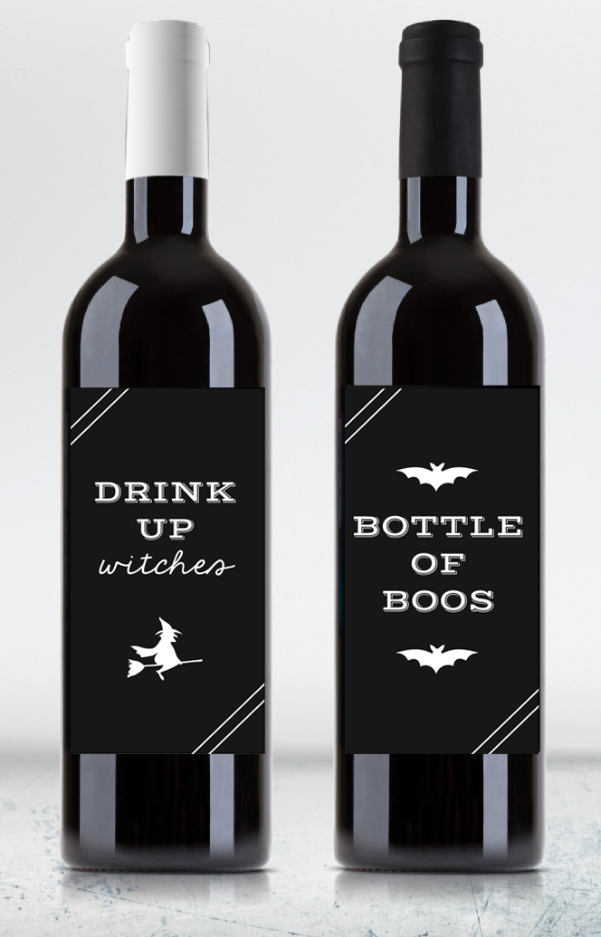 Fun Halloween Wine Labels Love And Marriage