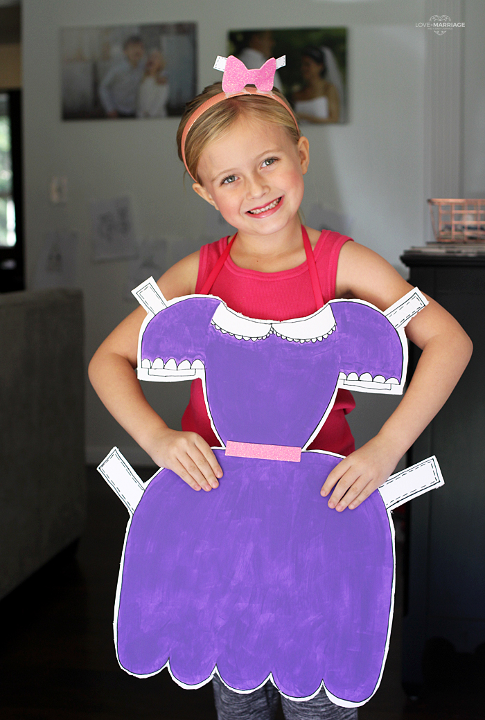 DIY Paper Doll Costume