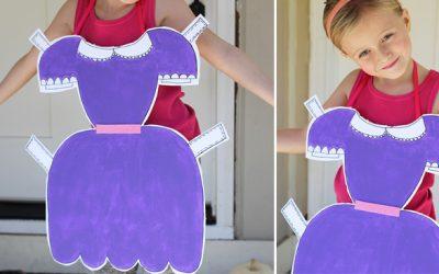 DIY Paper Doll Boxtume