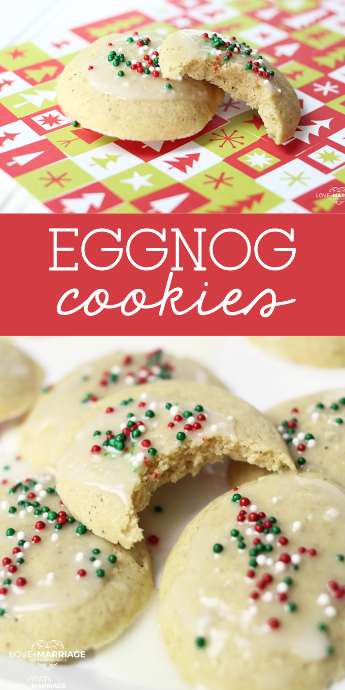 These Christmas Eggnog Cookies with vanilla glaze icing on top melt in your mouth. If you're looking for a new Christmas cookie recipe to try this year, you found it! | Yummy Christmas Cookies.