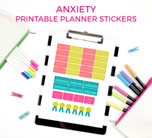 Printable Anxiety Challenge Planner Stickers