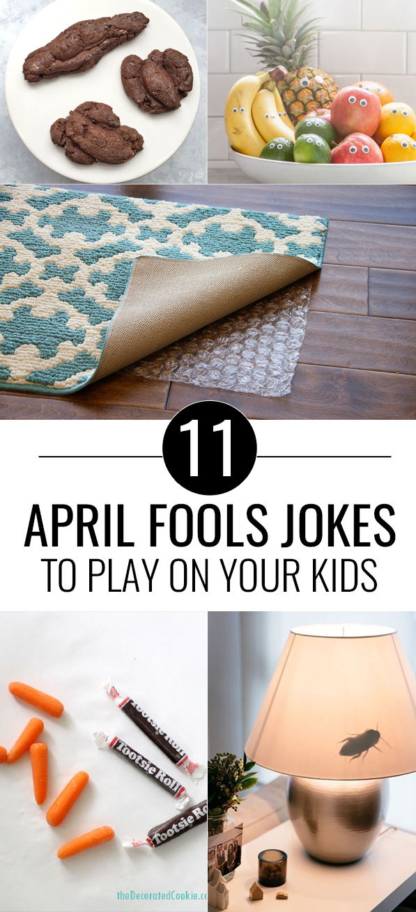 11 Fun April Fools Day Pranks to Play On Your Kids. These are the best pranks for kids because they are super silly and fun. Such a good laugh! #kids #aprilfools #prank