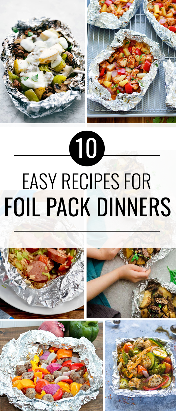 Delicious Foil Packet Dinners | These dinner recipes are easy make and require little clean up!
