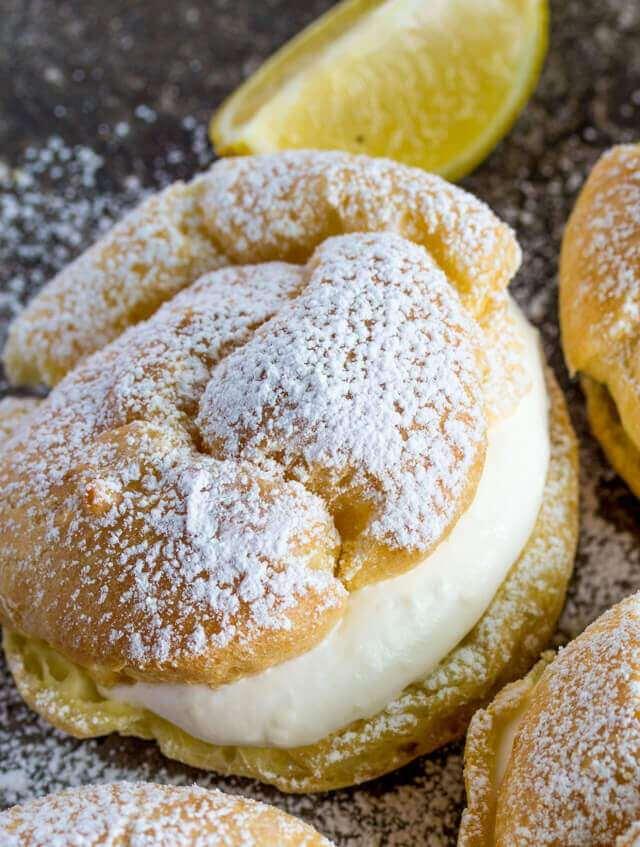 Lemon Cream Puffs   The BEST Lemon Desserts ever.   Lemon Recipes you will love.