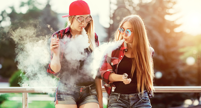 Teens That Vape Are Getting Just As Much Nicotine As Smokers And Don't Realize It