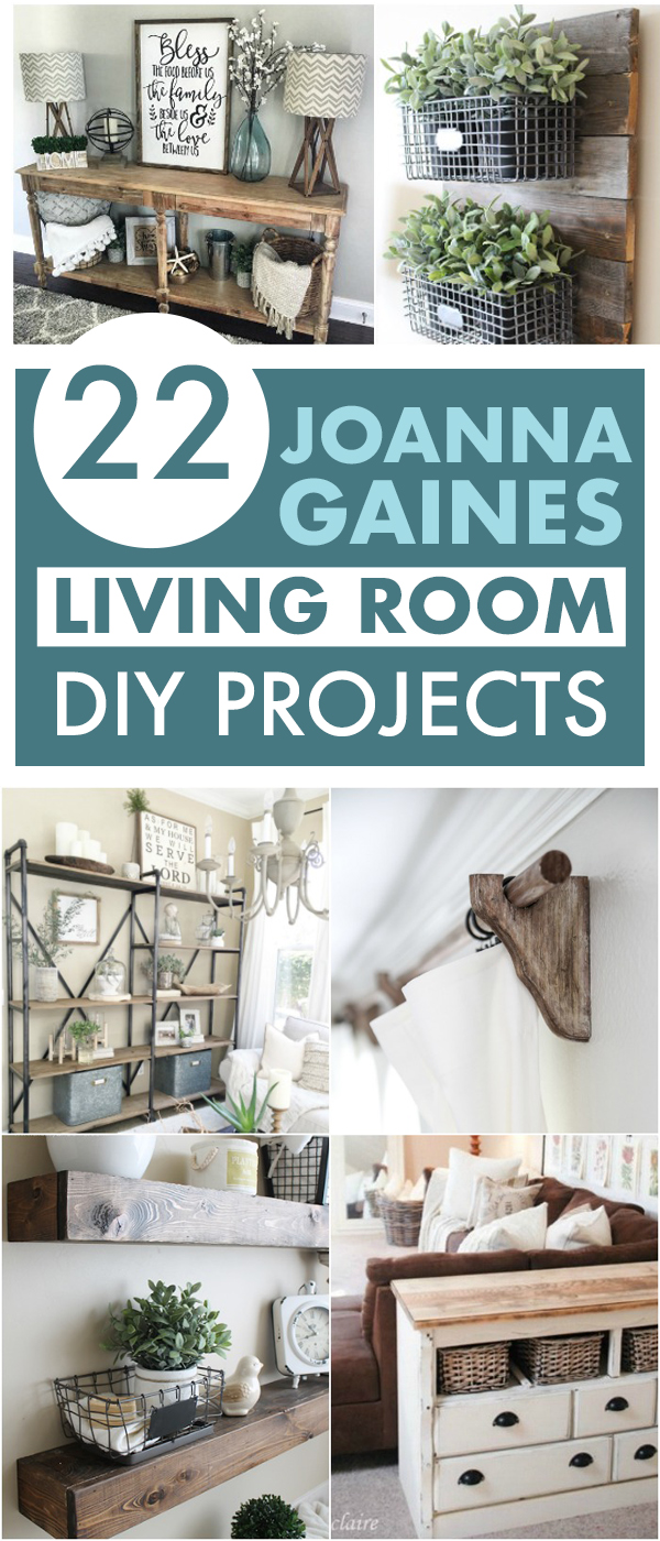 If you are like me and trying desperately to just add even a bit of that Joanna Gains flair to your home, these Joanna Gaines living room projects are for you. #HomeDecor #FixerUpper