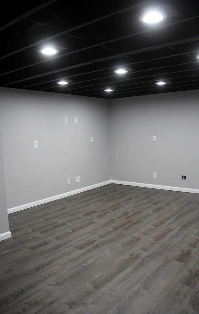 Image of: Our Painted Basement Ceiling Love And Marriage