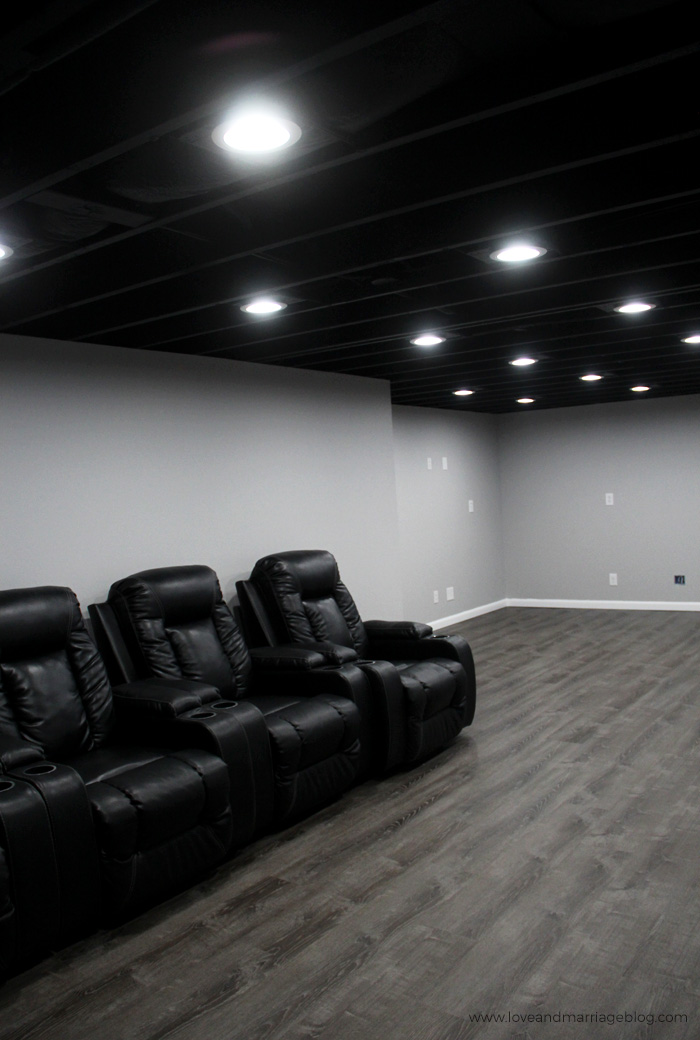 Basement Ceiling Painted Black