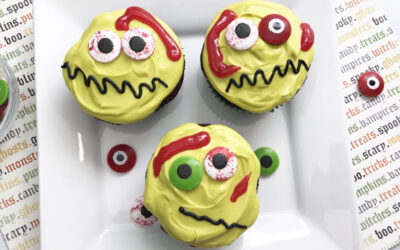 Zombie Cupcakes are the most fun Halloween treat to make for kids!