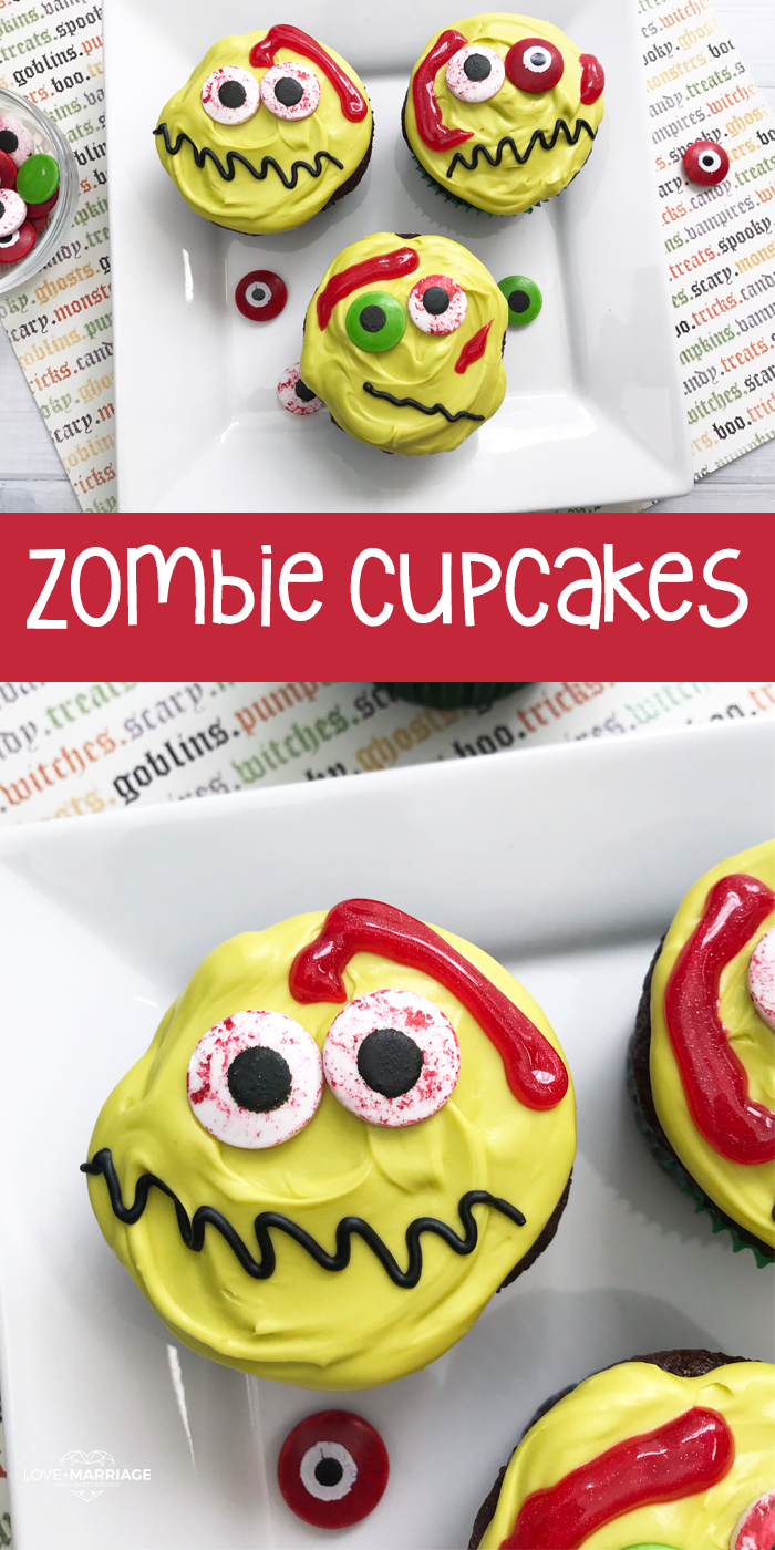 Zombie Cupcakes are the most fun Halloween treat to make for kids! | Easy Halloween Cupcakes | Halloween Food Ideas for Kids | Creepy Halloween Food
