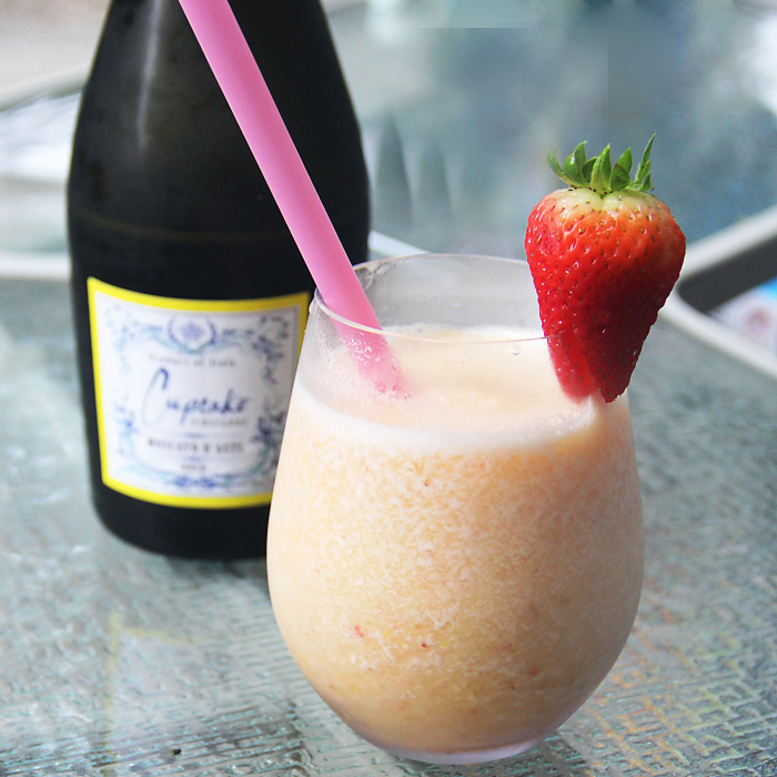 This Wine Slushie Recipe with Cupcake Moscato is not only super easy to make but is the most refreshing summer drink recipe.