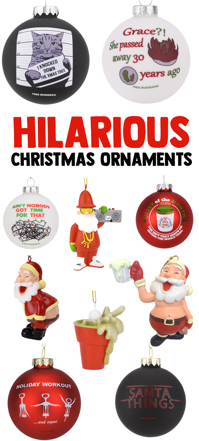 10 Best Funny Christmas Ornaments from Tree Buddees | Funny Christmas Tree | Christmas Decorations | Christmas Tree | Christmas Tree Ornaments
