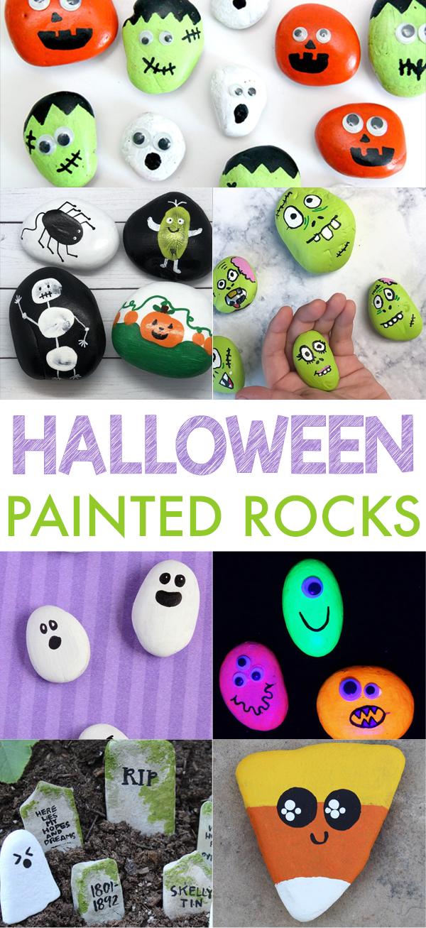14 Painted Halloween Rocks | Halloween Crafts