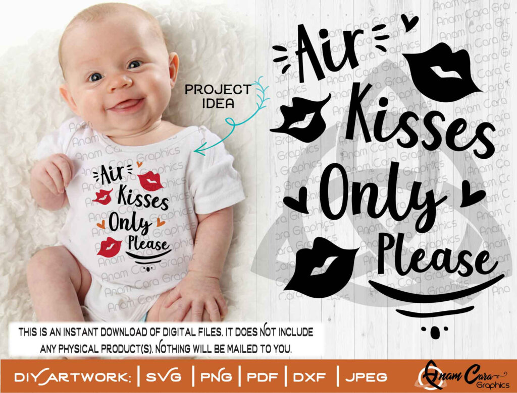 Air Kisses Only - Baby Onesie