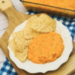 Buffalo Chicken Dip is a super easy recipe with just four ingredients. If you like hot wings and hot sauce this dip is for you.