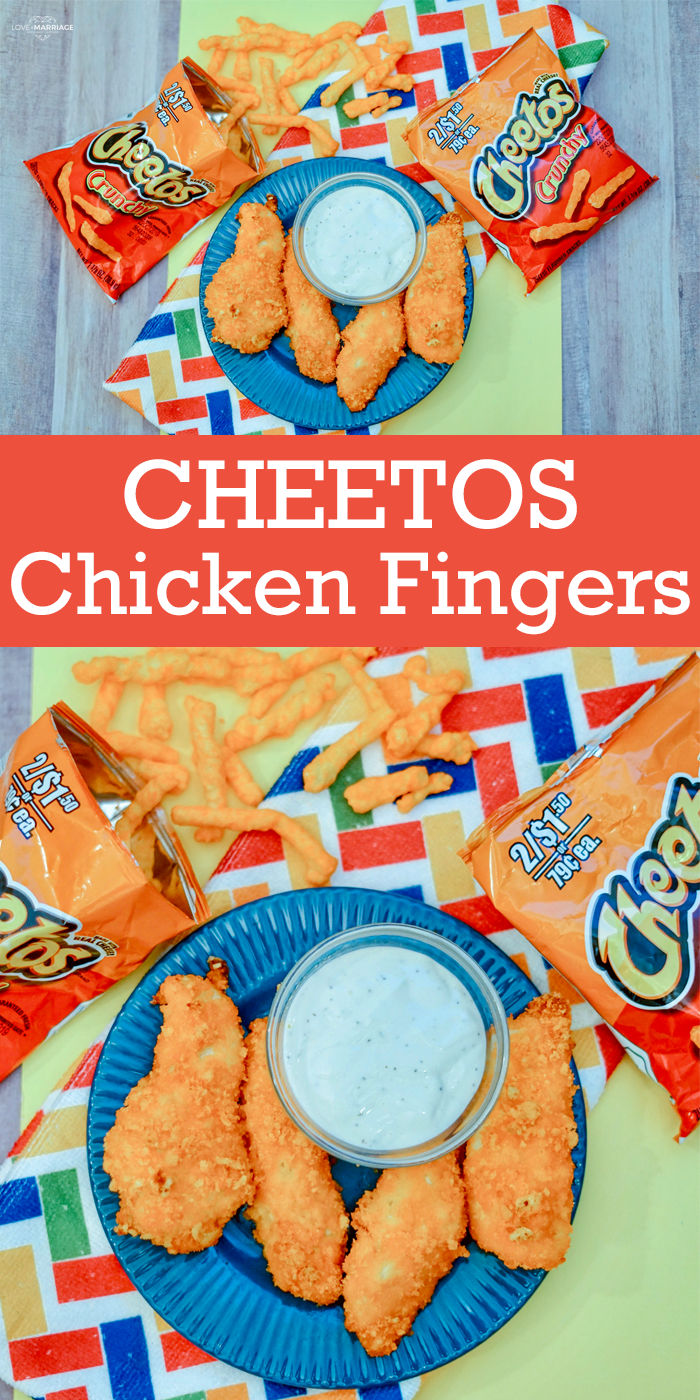 Cheetos Chicken is a simple meal idea that kids go crazy for. If you struggle to get your kids to sit down to eat dinner, try this!