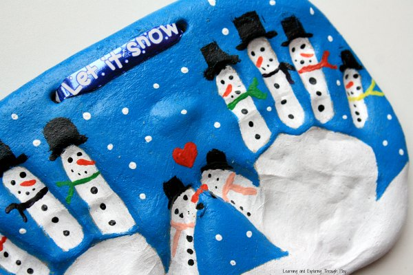 Snowman Handprint Keepsake - Best DIY Salt Dough Ornaments