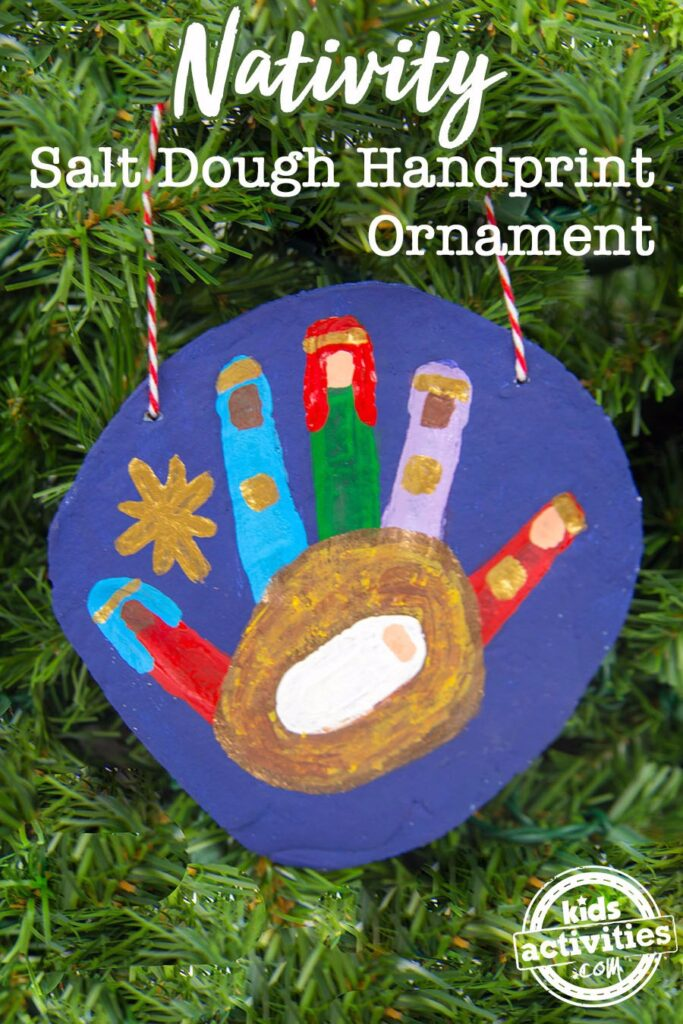Nativity Handprint Ornament - Best DIY Salt Dough Ornaments