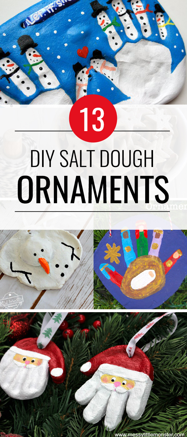 Best DIY Salt Dough Ornaments - The cutest Best DIY Salt Dough Ornaments around are all right here! Who knew you could make something so fun with just salt and flour?