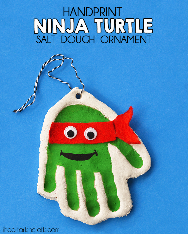 Ninja Turtle Ornament - Best DIY Salt Dough Ornaments