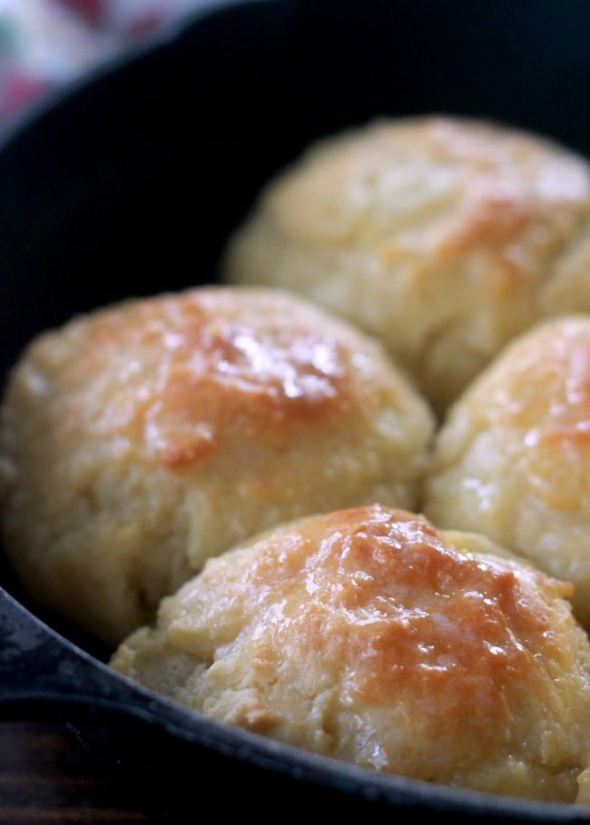 Biscuits made with butter, milk and flour.