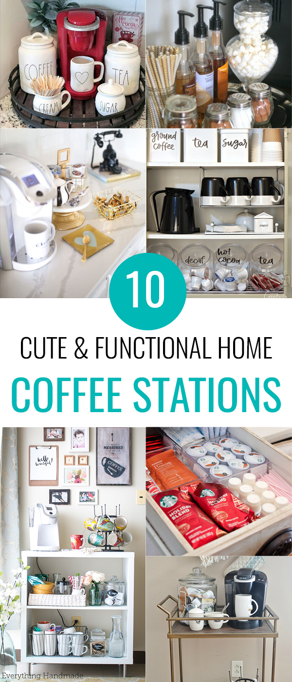 Home Coffee Stations are a fun new trend for the kitchen I'm totally into. If you love your morning coffee as much as I do, check out these cute little nooks to keep all your caffeine necessities.