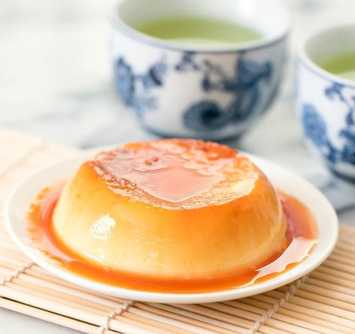 Microwave custard pudding