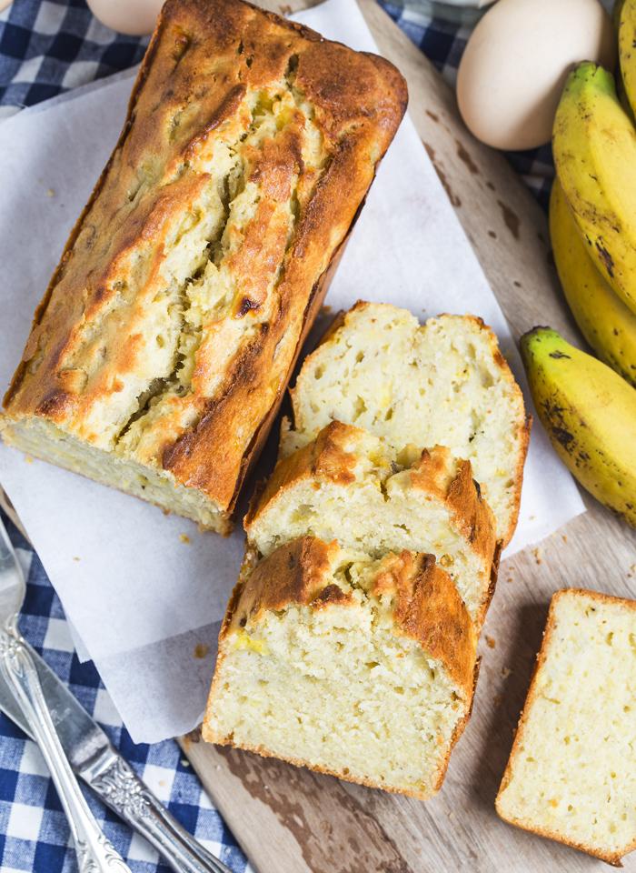 3 ingredient banana bread