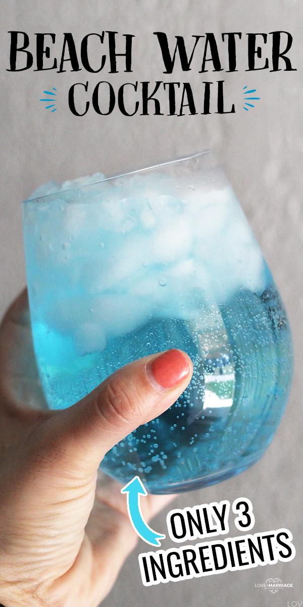 Beach Water Cocktail - just 3 ingredients