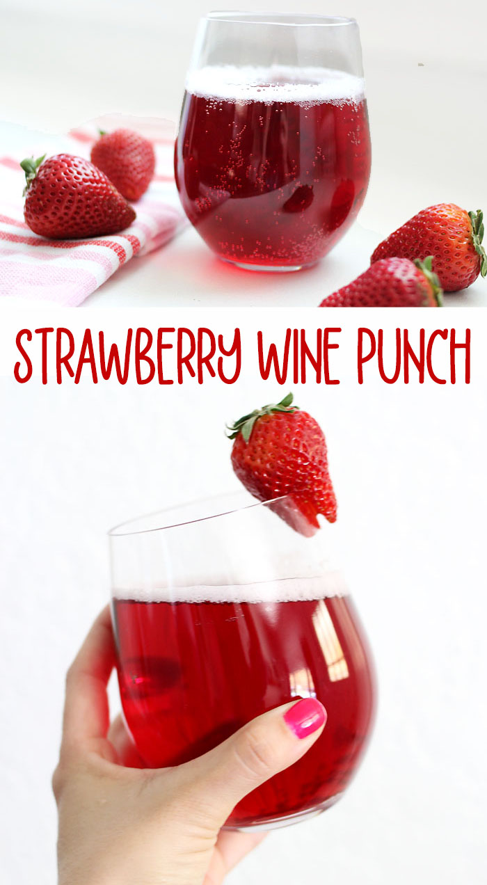Strawberry Wine Punch | Cocktails | Drinks