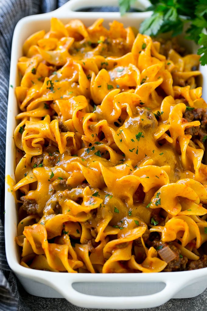 ground beef casserole with noodles
