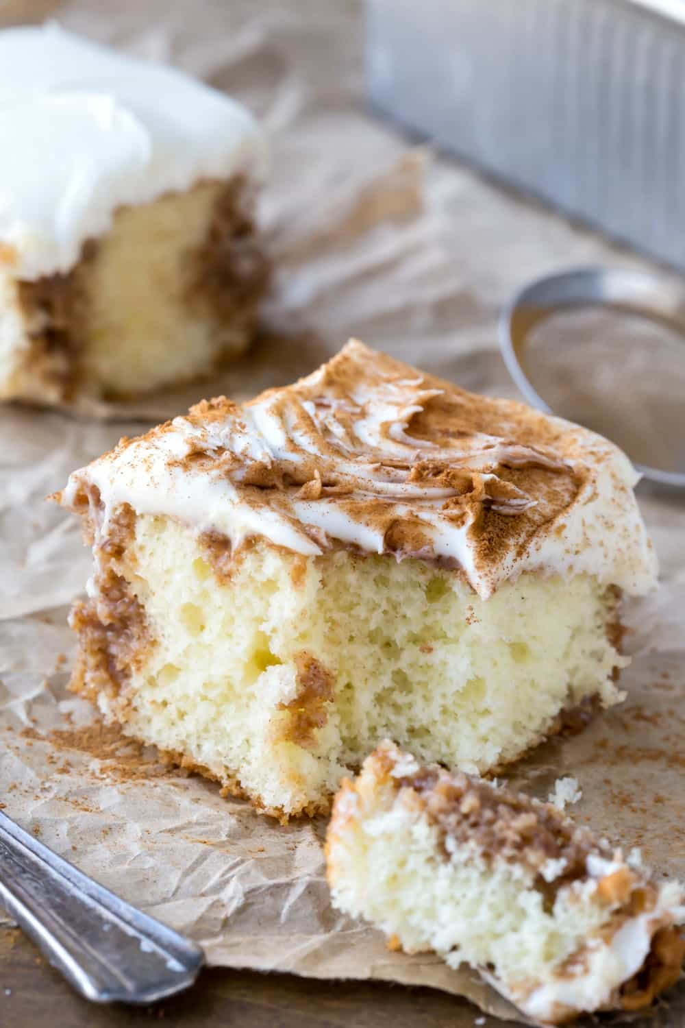 Cinnamon Roll Poke Cake - 20 Best Poke Cake Recipes