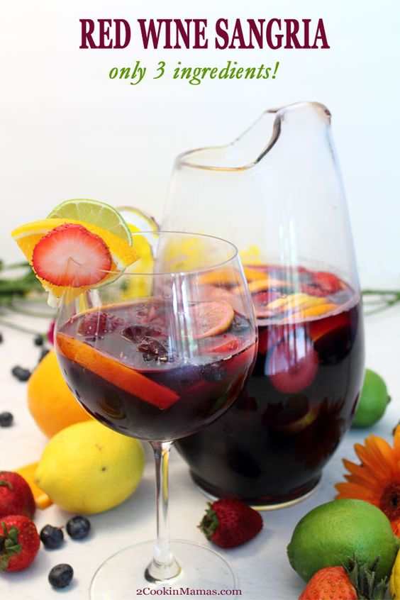 Red Wine Sangria - 17 Cocktail Recipes With Only 3 Ingredients