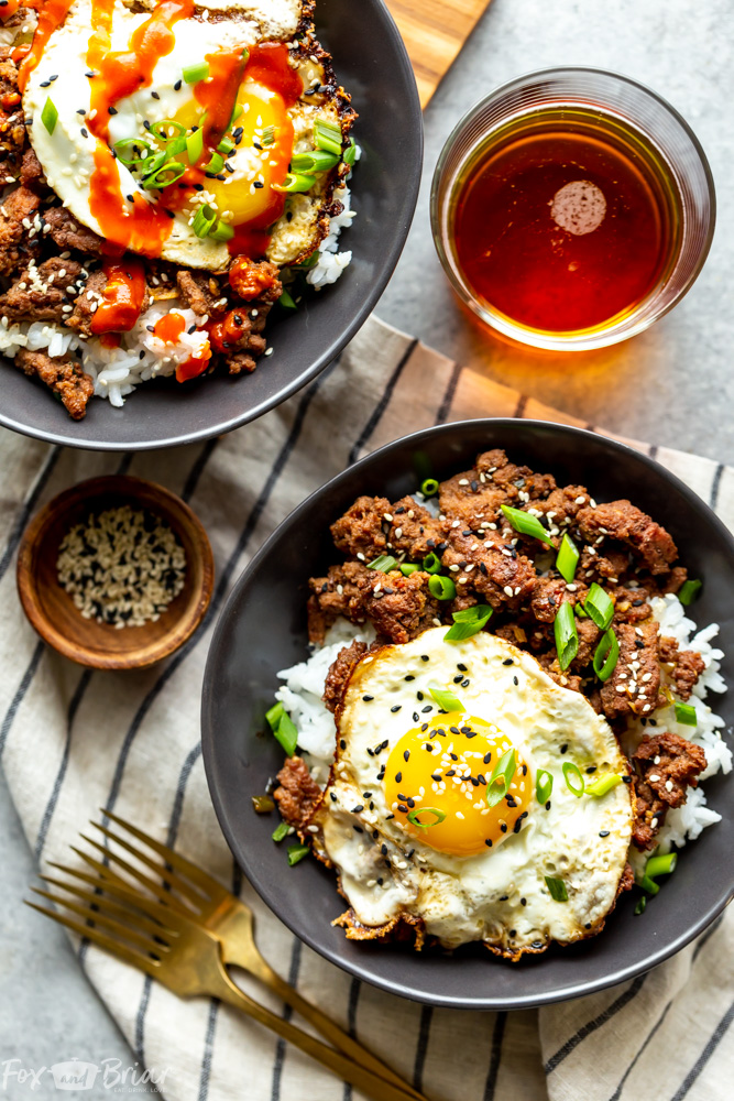 ground beef recipe korean bowls