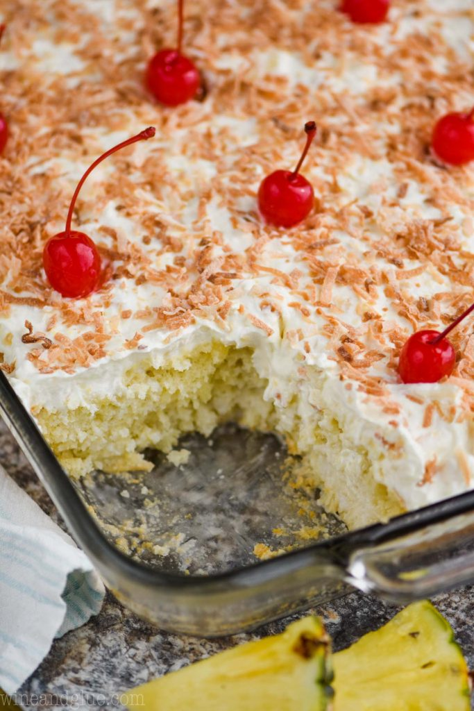 Pina Colada Poke Cake - 20 Best Poke Cake Recipes