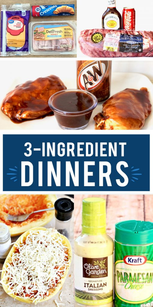 These 3 ingredient dinner recipes are going to make weeknight dinners so simple! Dinner Ideas  #Recipes #Dinner