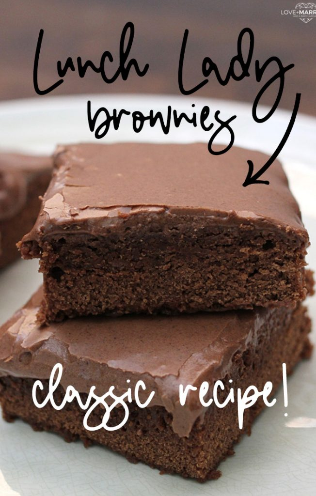 Lunch lady brownies are so good! brownie recipes #recipes