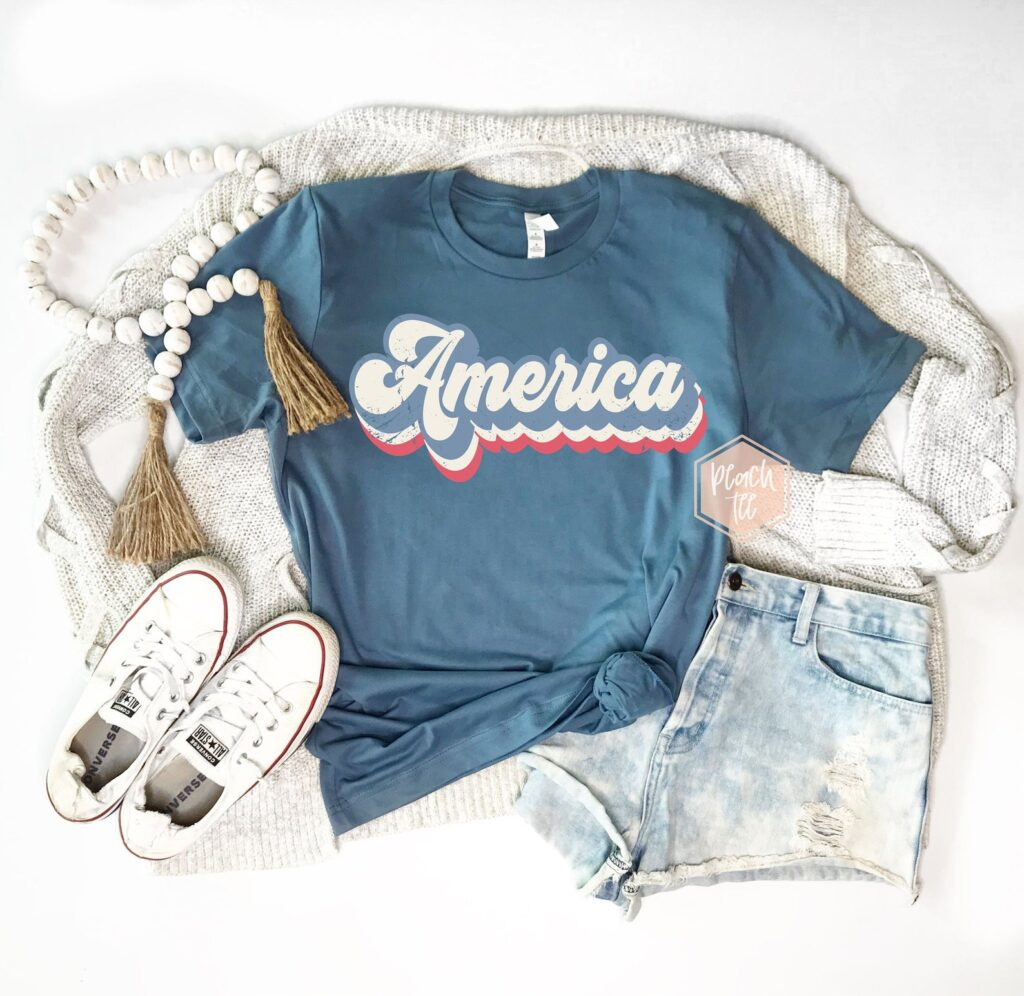 Cute Retro America 4th of July Shirt