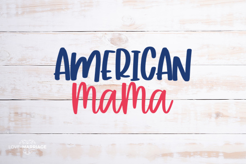 American Mama 4th of July SVG file