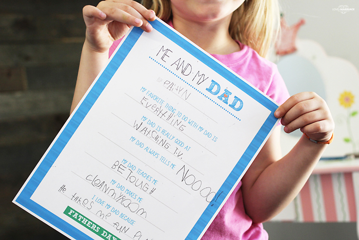 Father's Day Printable - Me and My Dad - Fun free printable for dad