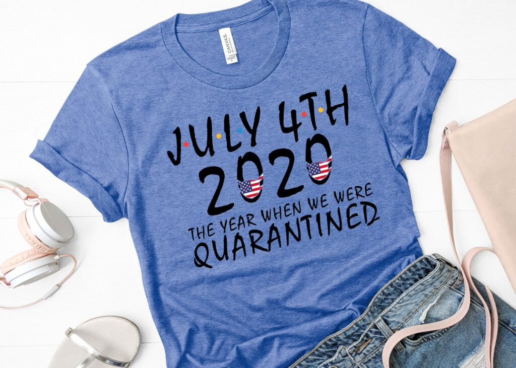Funny Quarantined 4th of July Shirt