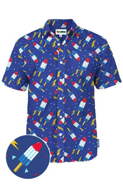 4th of July Bomb Pop Firework Shirt for men