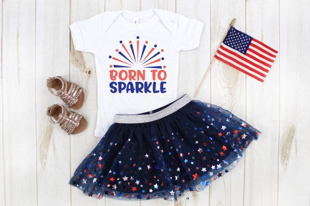 born to sparkle SVG file