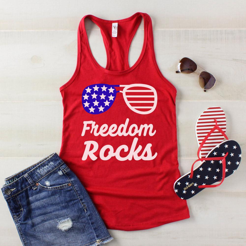 freedom rocks 4th of July shirt