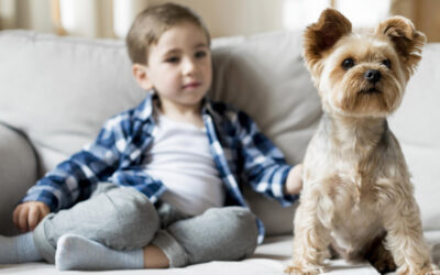 It's official: kids that grow up with dogs are better behaved.
