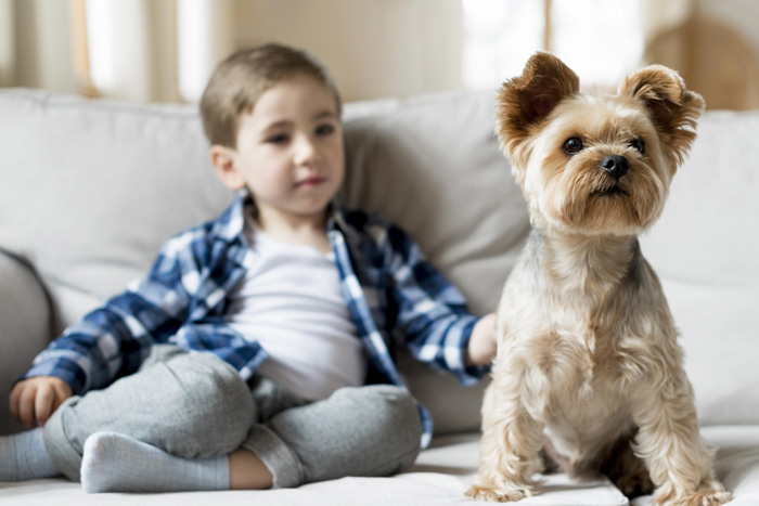 It's official:kids that grow up with dogs are better behaved.