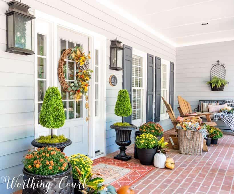 DIY fall front porch