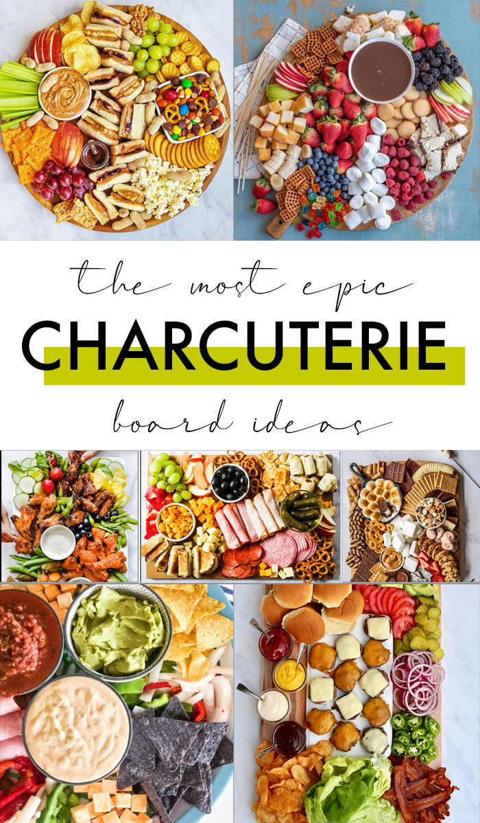 Charcuterie Board Ideas for every meal and every occasion including breakfast, dessert and holidays. Try them all and create your own!