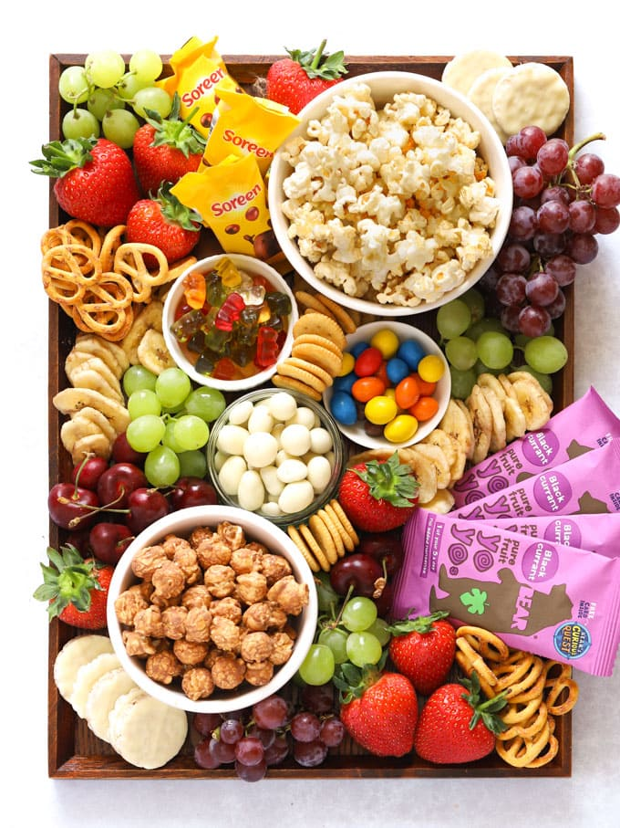Popcorn Movie Night Charcuterie Board - 20 Best Charcuterie Board Ideas